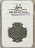 Large Cents, 1802 1C -- Environmental Damage -- NGC Details. VG. S-232. NGCCensus: (9/295). PCGS Population (7/378). Mintage: 3,435...