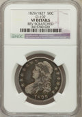 Bust Half Dollars, 1829/7 50C -- Reverse Scratched -- NGC Details. VF. O-102. NGCCensus: (4/176). PCGS Population (8/221). Numismedia Ws...