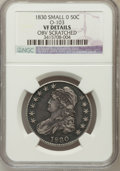 Bust Half Dollars, 1830 50C Small 0 -- Obverse Scratched -- NGC Details. VF. O-103.NGC Census: (23/1630). PCGS Population (15/1484). Mint...