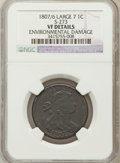 Large Cents, 1807/6 1C Large 7, S-273, B-3, R.1 -- Environmental Damage -- NGCDetails. VF. S-273. PCGS Populatio...