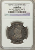 Bust Half Dollars, 1829 50C Small Letters -- Improperly Cleaned -- NGC Details. VF.O-114. NGC Census: (12/1048). PCGS Population (15/1311...