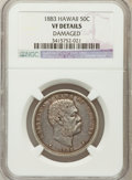 Coins of Hawaii, 1883 50C Hawaii Half Dollar -- Damage -- NGC Details. VF. NGCCensus: (5/397). PCGS Population (11/609). Mintage: 700,000. ...