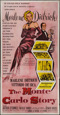 "The Monte Carlo Story (United Artists, 1957). Three Sheet (41"" X 8""). Comedy"