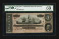 Confederate Notes:1864 Issues, T67 $20 1864 PF-15 Cr. 514.. ...