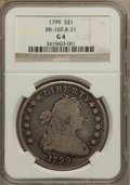 Early Dollars: , 1799 $1 7x6 Stars Good 4 NGC. BB-169, B-21. NGC Census: (12/1615).PCGS Population (9/2596). Mintage: 423,515. Numismedia ...