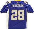 Football Collectibles:Uniforms, Adrian Peterson Signed Minnesota Vikings Jersey....