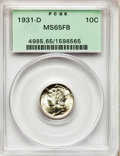 Mercury Dimes: , 1931-D 10C MS65 Full Bands PCGS. PCGS Population (326/201). NGCCensus: (130/62). Mintage: 1,260,000. Numismedia Wsl. Price...