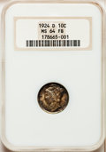 Mercury Dimes: , 1924-D 10C MS64 Full Bands NGC. NGC Census: (120/79). PCGSPopulation (157/120). Mintage: 6,810,000. Numismedia Wsl. Price ...