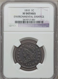 Large Cents: , 1810 1C -- Environmental Damage -- NGC Details. XF. NGC Census:(6/35). PCGS Population (13/45). Mintage: 1,458,500. Numism...