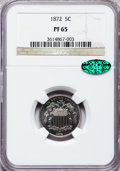 Proof Shield Nickels: , 1872 5C PR65 NGC. CAC. NGC Census: (108/51). PCGS Population(107/45). Mintage: 950. Numismedia Wsl. Price for problem free...