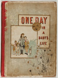 Books:Children's Books, M. Arnaud. One Day in a Baby's Life. Boston: RobertsBrothers, 1886. Octavo. Publisher's binding with rubbing and we...