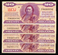Military Payment Certificates:Series 692, Series 692 $20 Very Fine Four Examples.. ... (Total: 4 notes)