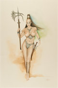 Original Comic Art:Splash Pages, Barbara Jensen Warrior Queen Illustration Original Art(undated)....