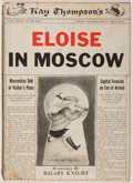 Books:Children's Books, Hillary Knight. Eloise in Moscow. New York: Simon andSchuster, 1959. First edition, first printing. Quarto. Publish...