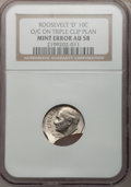 Errors, Undated-D 10C Roosevelt Dime -- Off-Centered on a Triple ClippedPlanchet -- AU58 NGC....