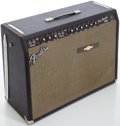 Musical Instruments:Amplifiers, PA, & Effects, 1965 Fender Pro Reverb Black Guitar Amplifier, Serial # A01601....