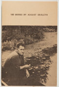 Books:Horror & Supernatural, [Jerry Weist]. August Derleth. 100 Books by August Derleth.[n. p.: E. V. A. Publishers, 1974]. Reprint edition. Six...