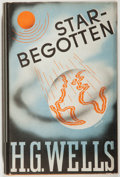 Books:Science Fiction & Fantasy, [Jerry Weist]. H. G. Wells. Star-Begotten: A Biological Fantasia. New York: Viking, 1937. First American edition, fi...