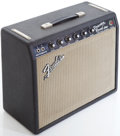 Musical Instruments:Amplifiers, PA, & Effects, 1966 Fender Princeton Reverb Black Guitar Amplifier, Serial #A12743....