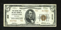 National Bank Notes:Kentucky, Lexington, KY - $5 1929 Ty. 2 The Lexington City NB Ch. # 906.Strong embossing and natural paper ripple are traits of t...