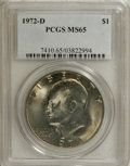 Eisenhower Dollars: , 1972-D $1 MS65 PCGS. PCGS Population (941/235). NGC Census: (625/249). Mintage: 92,548,512. Numismedia Wsl. Price for NGC/P...