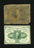 Fractional Currency:First Issue, Fr. 1243 10c First Issue Choice New.... (Total: 2 notes)