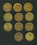 Civil War Patriotics, Ten-Piece Lot of Lincoln Civil War Tokens.... (Total: 10 tokens)