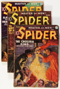 Pulps:Hero, The Spider Group (Popular, 1936).... (Total: 4 Comic Books)