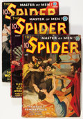 Pulps:Hero, The Spider Group (Popular, 1937) Condition: Average VG.... (Total: 6 Items)