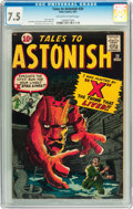 Silver Age (1956-1969):Science Fiction, Tales to Astonish #20 (Marvel, 1961) CGC VF- 7.5 Off-white to whitepages....