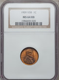 Lincoln Cents: , 1909 VDB 1C MS64 Red and Brown NGC. NGC Census: (1032/1043). PCGSPopulation (2031/1125). Mintage: 27,995,000. Numismedia W...