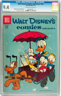 Golden Age (1938-1955):Cartoon Character, Walt Disney's Comics and Stories #182 (Dell, 1955) CGC NM 9.4Off-white to white pages....