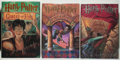 Books:Children's Books, J. K. Rowling. Group of Three Books, including: Harry Potter andthe Sorcerer's Stone; Harry Potter and the Chamber of S... (Total:3 Items)