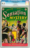 Golden Age (1938-1955):Horror, Sensation Mystery #116 (DC, 1953) CGC VG+ 4.5 Off-white pages....