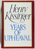 Books:Americana & American History, Henry Kissinger. SIGNED. Years of Upheaval. Boston: Little,Brown, [1982]. First edition, first printing. Signed b...