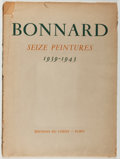 Books:Art & Architecture, [Pierre Bonnard]. Bonnard. Seize Peintures 1939-1943. Paris: Editions du Chene, 1944. First edition, first print...