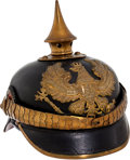 Militaria:Helmets, Prussian Non-Commissioned Officers' Spiked Helmet (Pickelhaube)....