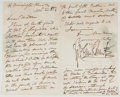 Autographs:Artists, George Cruikshank (1792-1878, British Artist and Illustrator).Autograph Letter Signed. Morningstar Place, Nov. 22nd 1856. T...