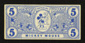 "Miscellaneous:Other, Mickey Mouse Official ""5"" Note Circa 1930s Part One.. ..."