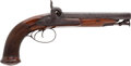 Handguns:Muzzle loading, Very Fine Quality Mid-19th Century British Double Barrel PercussionPistol....
