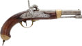 Handguns:Muzzle loading, French M1822 Percussion Military Pistol....