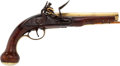 "Handguns:Muzzle loading, Wonderful Late 18th Century Unmarked American ""Kentucky"" Flintlock Pistol...."