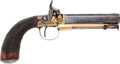 Handguns:Muzzle loading, Fine Quality And Condition British Single Shot Percussion BeltPistol, C. 1840...