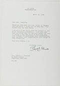 Autographs:Authors, Pearl S. Buck (1892-1973, American Writer). Typed Letter Signed.Perkasie: March 18, 1966. Approximately 10.5 x 7.25 inches....
