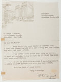 Autographs:Military Figures, Richard E. Byrd (American Naval Officer and Explorer, 1888-1957). Typed Note Signed. Chicago: November Twenty-second Ninetee...