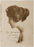 Autographs:Artists, Anna Case (American Soprano, 1888-1984). Inscribed Photograph. [NewYork]: 1922. Black and white photograph of Case in profi...