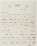 Autographs:Authors, Grace Hazard Conkling (American Author, 1878-1958). AutographLetter Signed. Northampton, Massachusetts: December 4, 1920. A...