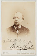Autographs:Artists, Dudley Buck (American Composer, Organist, and Author, 1839-1909).Signed Cabinet Photograph. Brooklyn: [n.d.]. Signed with a...