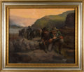 "Art, John Mulvany: An Important 1882 Oil Painting, ""Scouts of theYellowstone.""... (Total: 3 Items)"