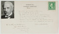 Autographs:Authors, [Addison] Irving Bacheller (American Journalist and Writer, Founder of the First Modern Newspaper Syndicate in the United Stat...